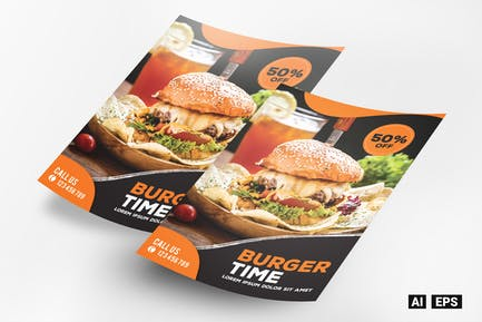 Burger Time Flyer