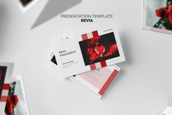 Thumbnail for Revia : Red Gradient Color Tone Google Slides