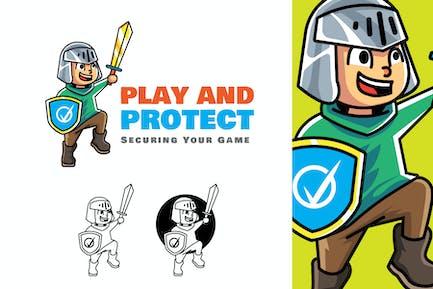 Play Protect - Mascot Logo