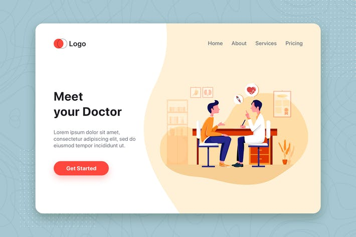 Thumbnail for Find Doctor Service Online Illustration