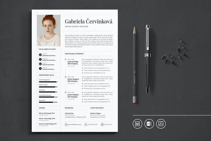 Thumbnail for Professional CV Resume Indesign Template Vol.47