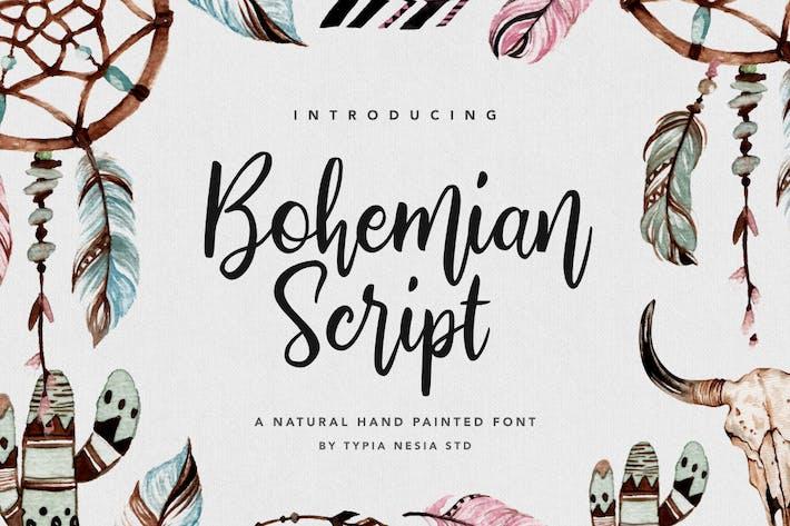 Cover Image For Bohemian Script
