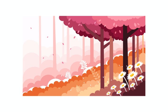 Thumbnail for Beautiful scenery of the forest slopes