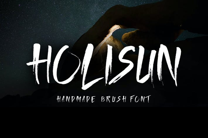 Thumbnail for Holisun - BrushFont hecho a mano