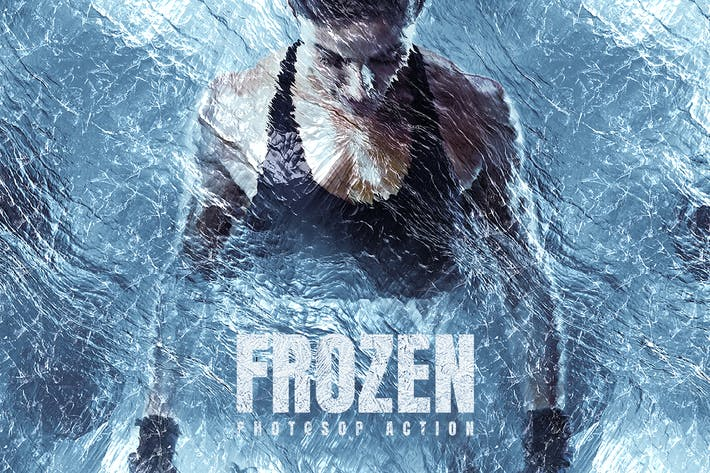 Thumbnail for Frozen Photoshop Action