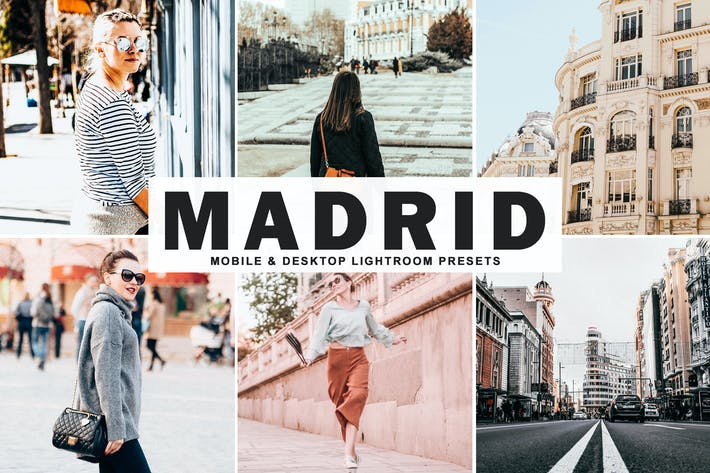 Cover Image For Madrid Mobile & Desktop Lightroom Presets
