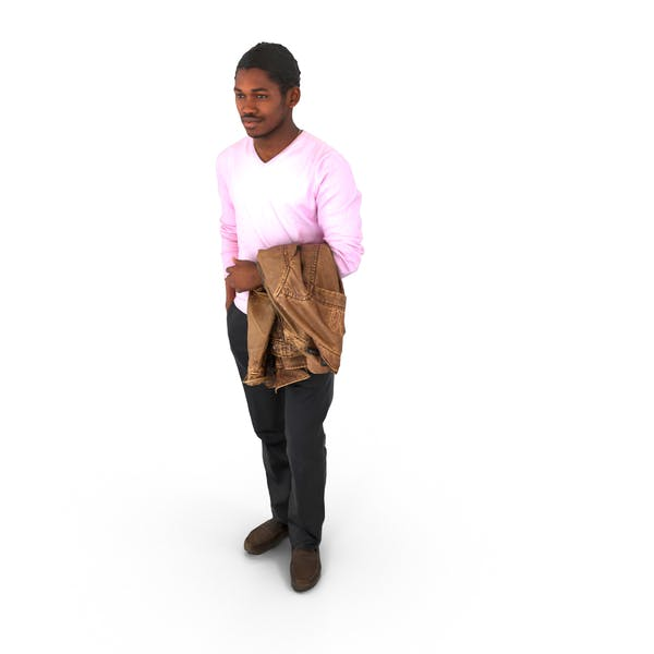Man Standing with Jacket