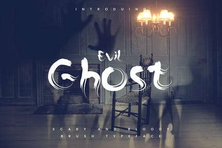 The Ghost - Haunted Display Typeface