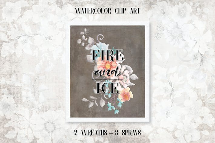Thumbnail for Fire and Ice: Watercolor Wreaths and Sprays