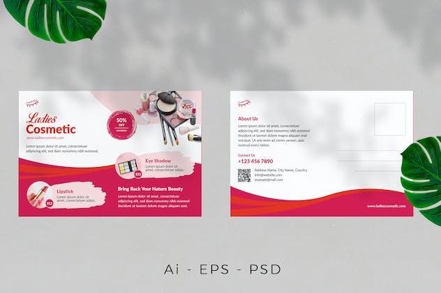 Cosmetics Product Postcard Design