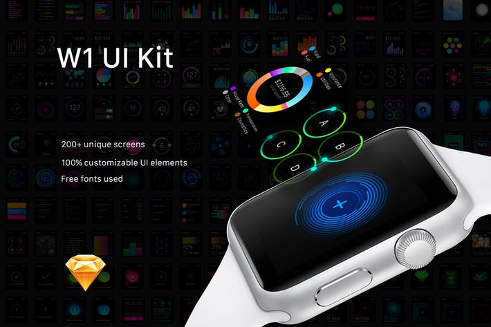 Thumbnail for W1 UI Kit for watch Apps