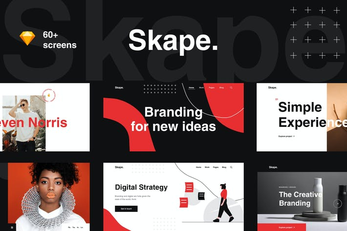 Thumbnail for Skape - Creative & Modern Agency Sketch Template
