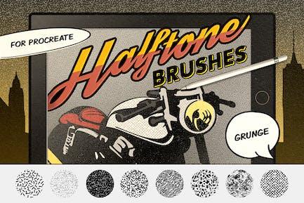 Винтажные комиксы: Grunge раздувать кисти
