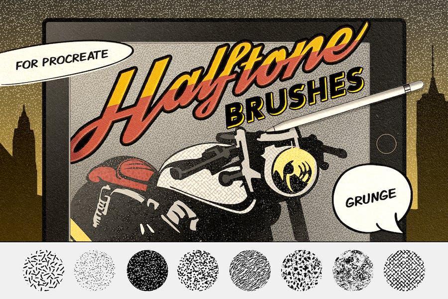 Vintage Comics: Grunge Procreate Brushes
