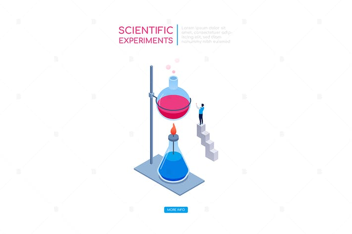 Thumbnail for Scientific experiments - isometric web banner