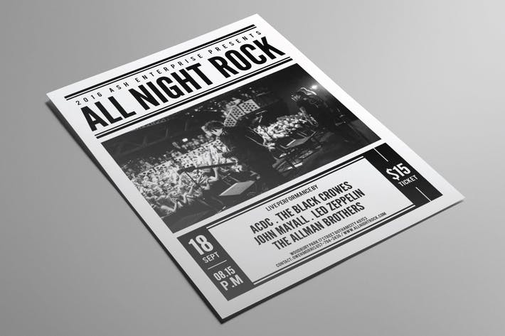 Thumbnail for All Night Rock Flyer