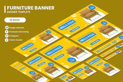 Furniture Google Adwords Banner Template