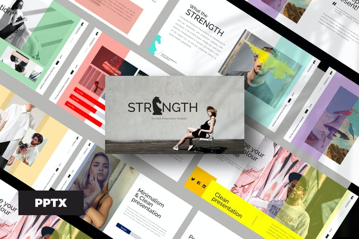 Thumbnail for STRENGHT  WHITE - Powerpoint Template
