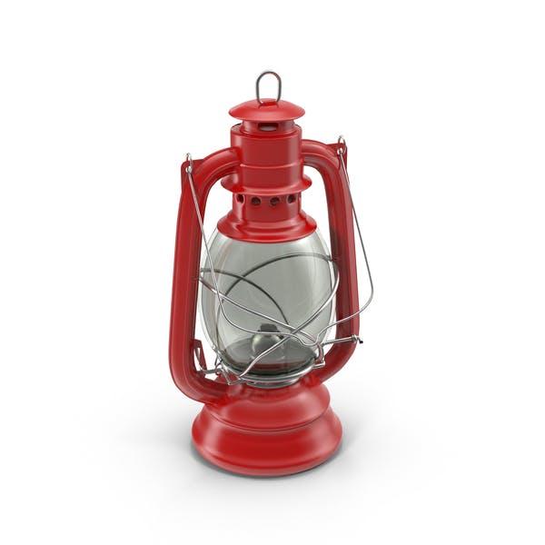 Rote Öllampe
