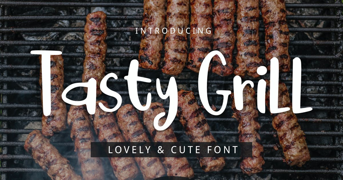 Download Tasty Grill Font by yandidesigns