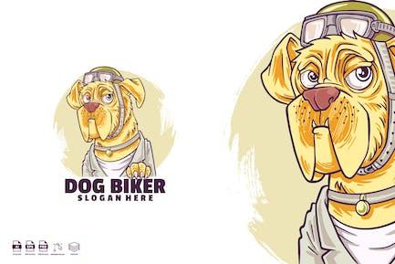 Dog biker logo template