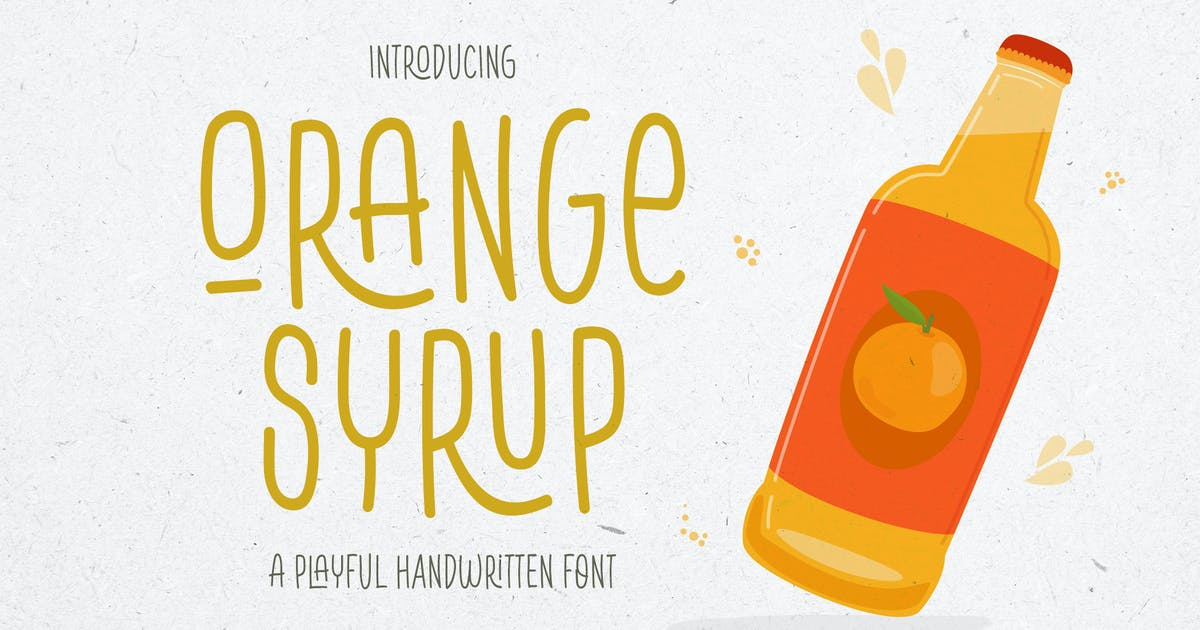 Download Orange Syrup - a Playful Ligatures Handwitten Font by HamzStudio