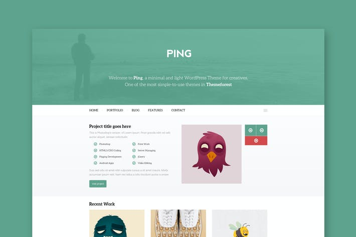 Thumbnail for Ping - Minimal Responsive HTML Template