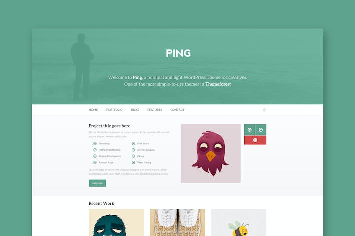 Cover Image For Ping Minimal Responsive Html Template