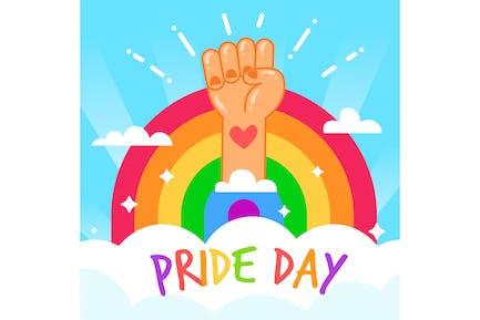 Cute Pride Day Concept