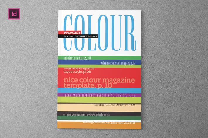 Thumbnail for COLOUR - Magazine Template