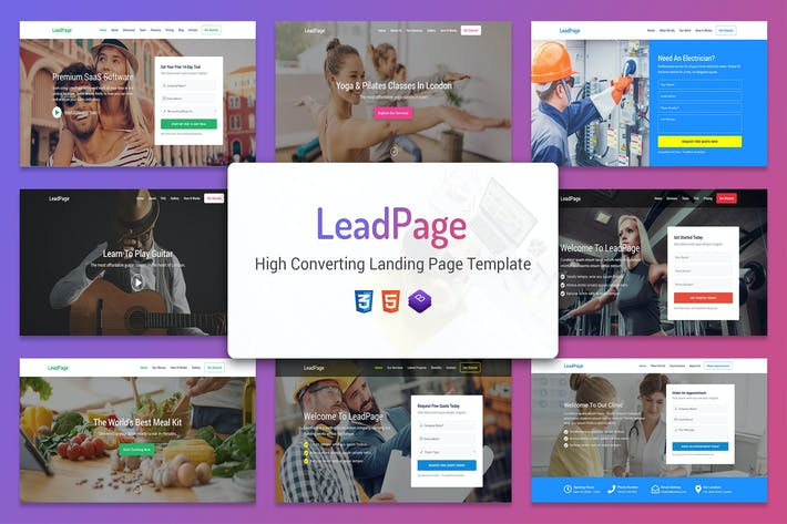 Cover Image For LeadPage - Marketing HTML Landing Page