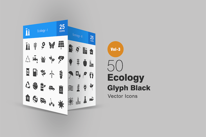 Thumbnail for 50 Ecology Glyph Icons