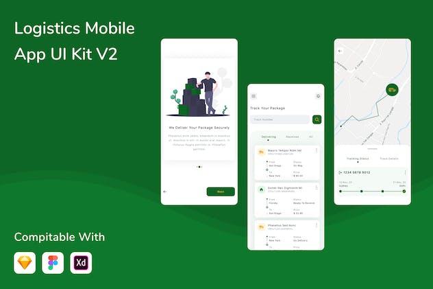 Logistics Mobile App UI Kit V2