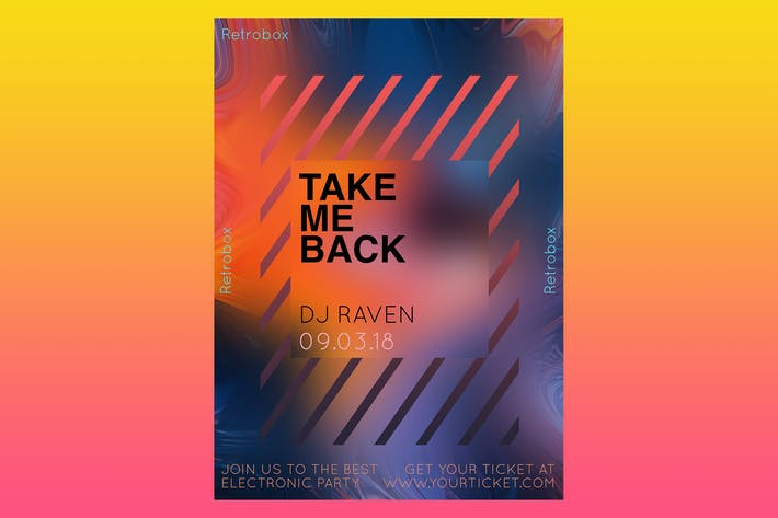 Cover Image For Take me Back Flyer Poster