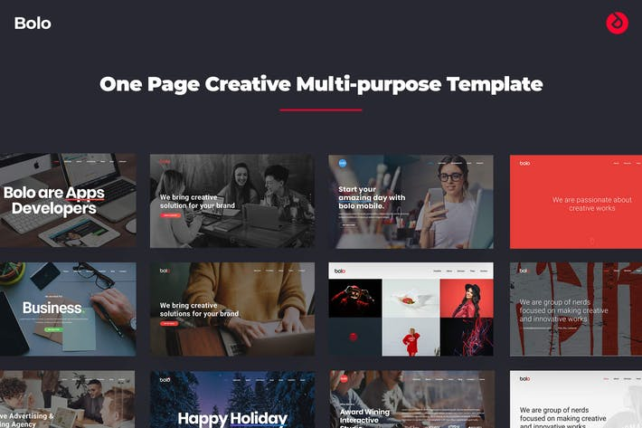Thumbnail for Bolo - Onepage Creative Multi-purpose Template