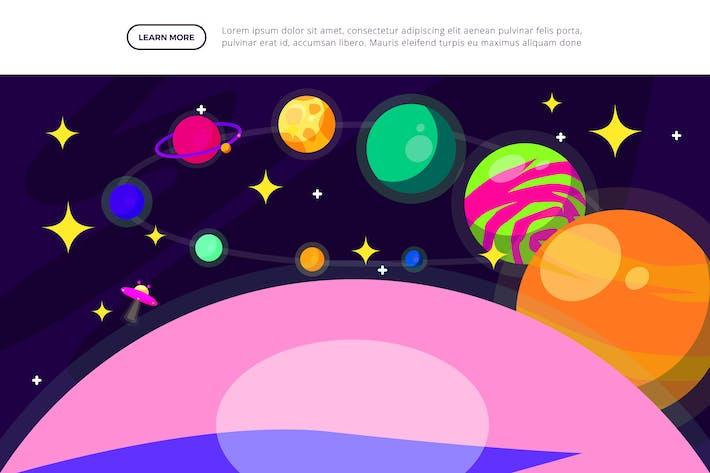Floating Planet - Weltraum-Illustr