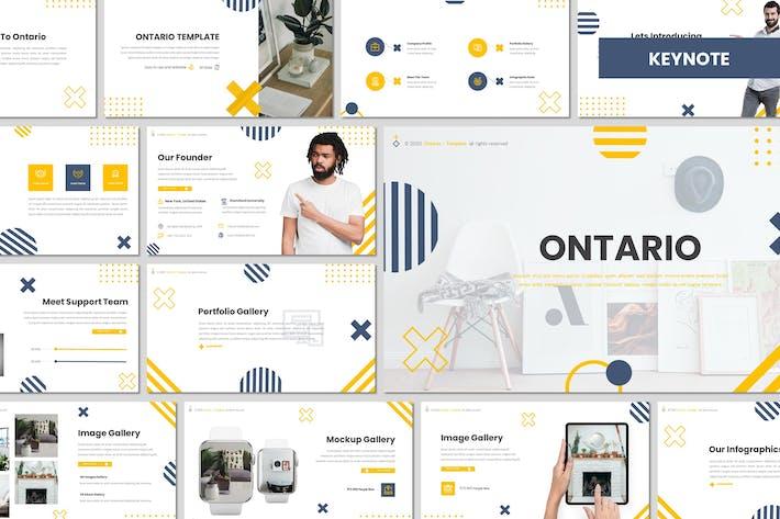 Онтарио - креативный Шаблон Keynote