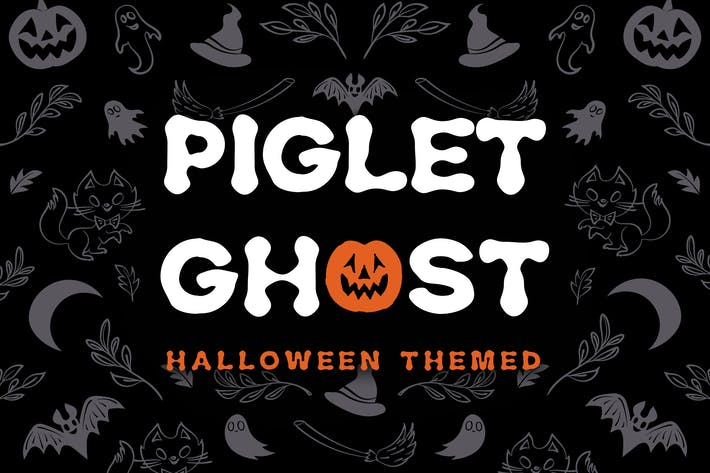 Thumbnail for Piglet Ghost - Halloween Display Typeface