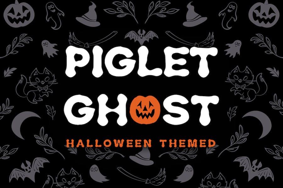 Piglet Ghost - Halloween Display Tipo de letra