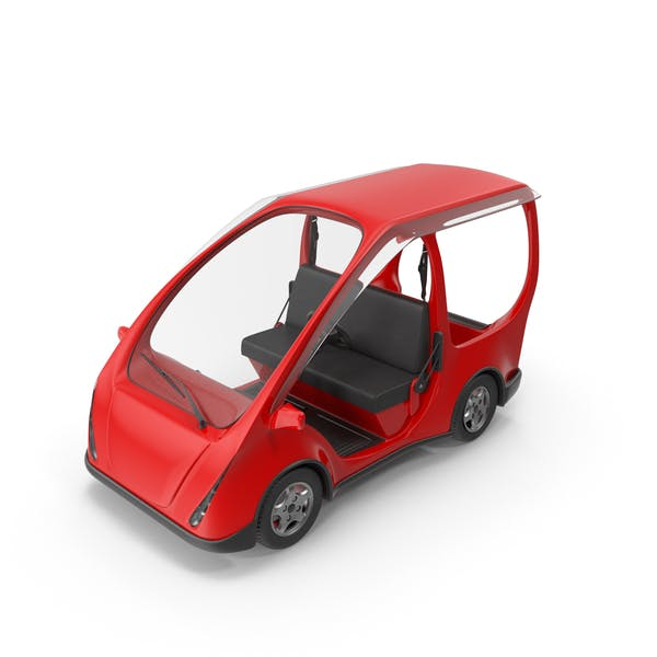 Cover Image for Rotes Elektro-Golfauto