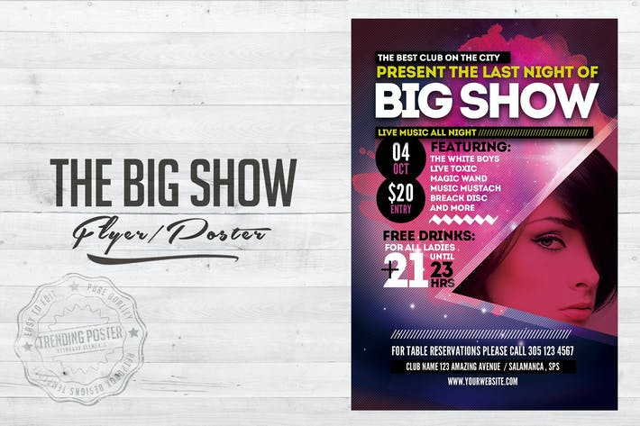 Thumbnail for The Big Show Flyer Poster