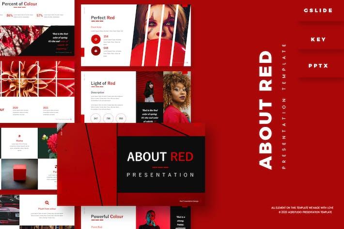 О красном - Шаблон презентации