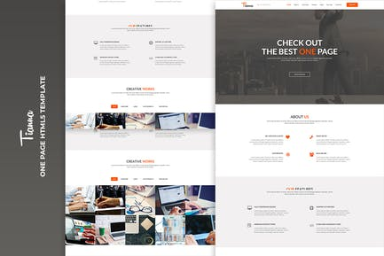 Tianna - One Page HTML5 Template