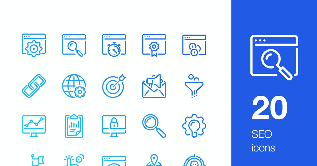 Download 20 SEO icons by mir_design