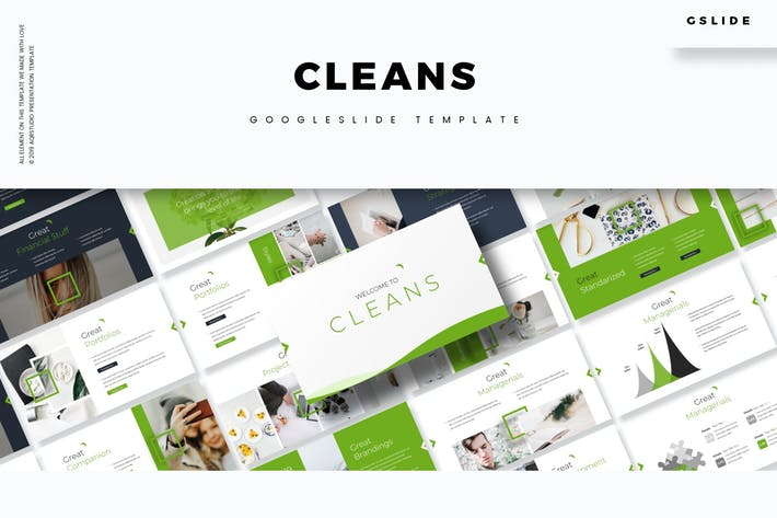 Thumbnail for Cleans - Google Slides Template