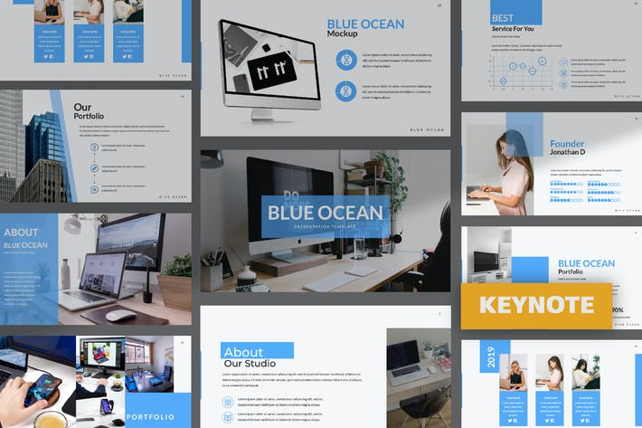 Thumbnail for Blue Ocean Business Keynote