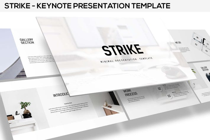 Thumbnail for Strike - Minimal Keynote Template