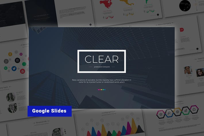 "Thumbnail for Google PräsentationsVorlage ""Clear-Google"""