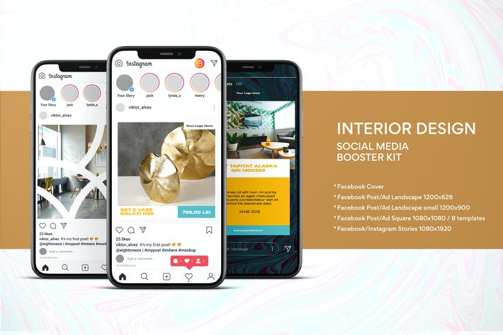 Thumbnail for Interior Design Social Media Kit