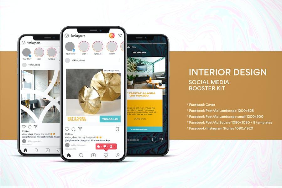 Interior Design Social Media Kit